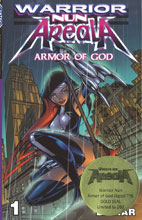 Image: Warrior Nun Armor God Digest: Gold Seal Var SC  - Avatar Press Inc