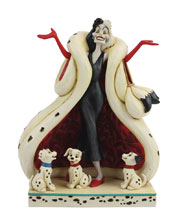 Image: Disney 101 Dalmatians Figurine: Cruella with Puppies  (8.2-inch) - Enesco Corporation
