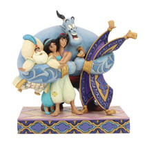 Image: Disney Figurine: Aladdin - Group Hug  (7.8-inch) - Enesco Corporation