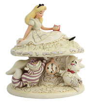 Image: Disney Figure: Alice in Wonderland - White Woodland  - Enesco Corporation