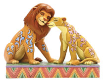 Image: Disney Figurine: Lion King - Simba and Nala  (5-inch) - Enesco Corporation