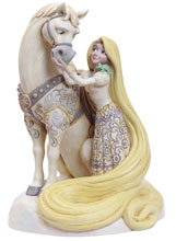 Image: Disney Figure: Rapunzel - White Woodland  - Enesco Corporation
