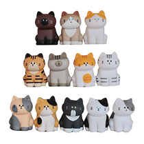 Image: Fluffy House Series 2: My Home Cat 12-Piece Display  - Fluffy House