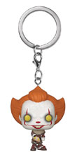 Image: Pocket Pop! It Chapter 2 Keychain: Pennywise  (w/Beaver Hat) - Funko