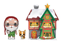 Image: Pop! Town Holiday Vinyl Figure: Santa's House  (w/Santa Nutmeg) - Funko