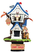 Image: Disney Ds-028 D-Stage PX Statue: Chip N Dale Treehouse  (6-inch) - Beast Kingdom Co., Ltd