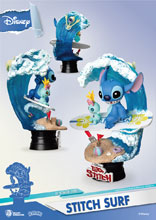 Image: Lilo & Stitch DS-030 D-Stage Series PX Statue: Stitch Surf  (6-inch) - Beast Kingdom Co., Ltd