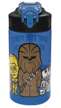 Image: Star Wars Park Straw Bottle: Blue  - Zak Designs