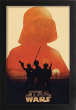 Image: Star Wars Framed Poster: Tatooine Sunset  - Pyramid America, Lp