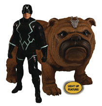 Image: One-12 Collective Marvel Inhumans Action Figure: Black Bolt & Lockjaw  - Mezco Toys