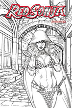 Image: Red Sonja Vol. 05 #21 (incentive 1:10 cover - Linsner B&W) - Dynamite