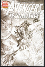 Image: Avengers / Invaders #1 (B&W Sketch Variant Cover) - Marvel Comics